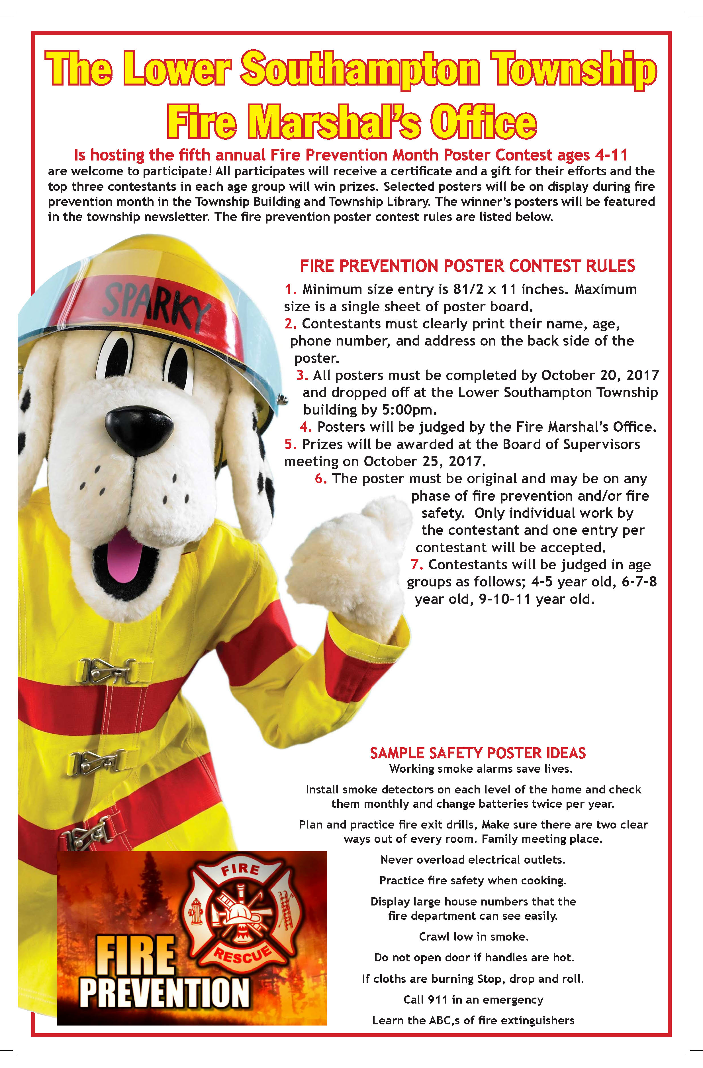 5th Annual FirePrevention poster contest