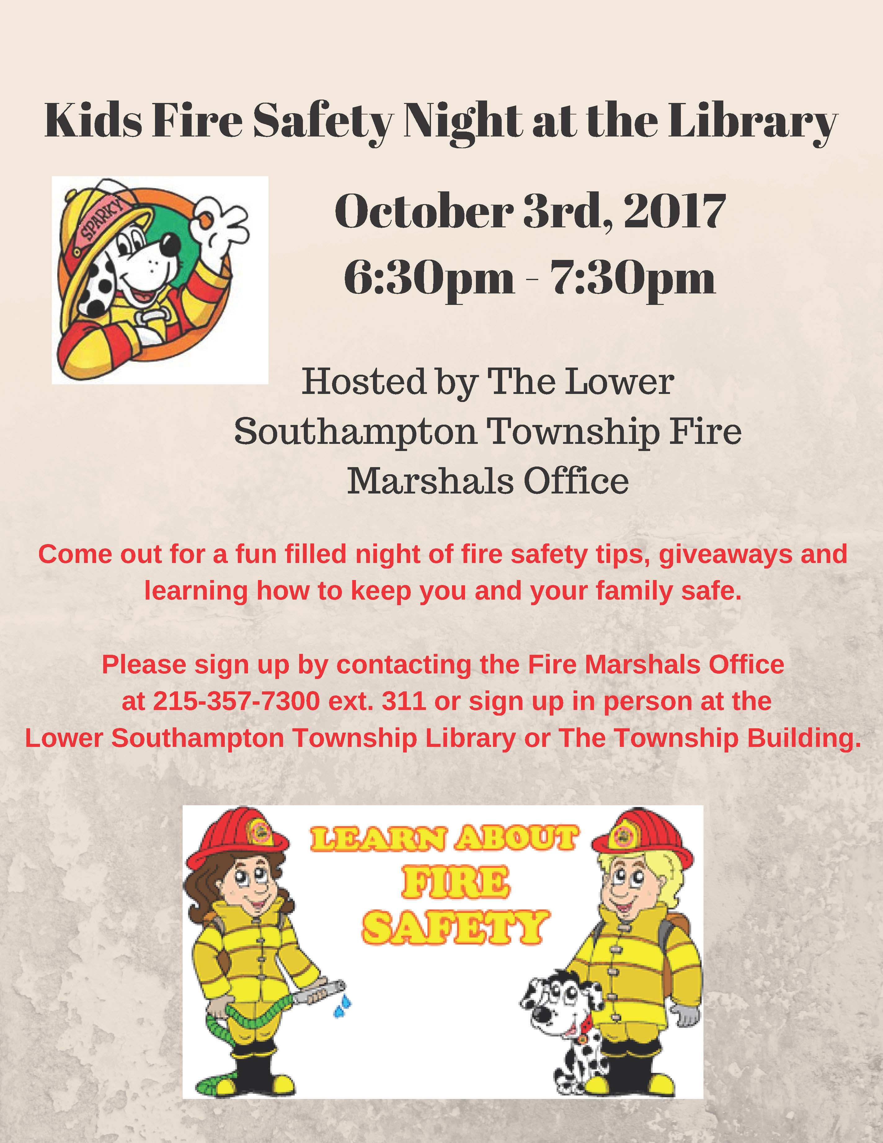 Kids Fire Safety Night at the Library (1)