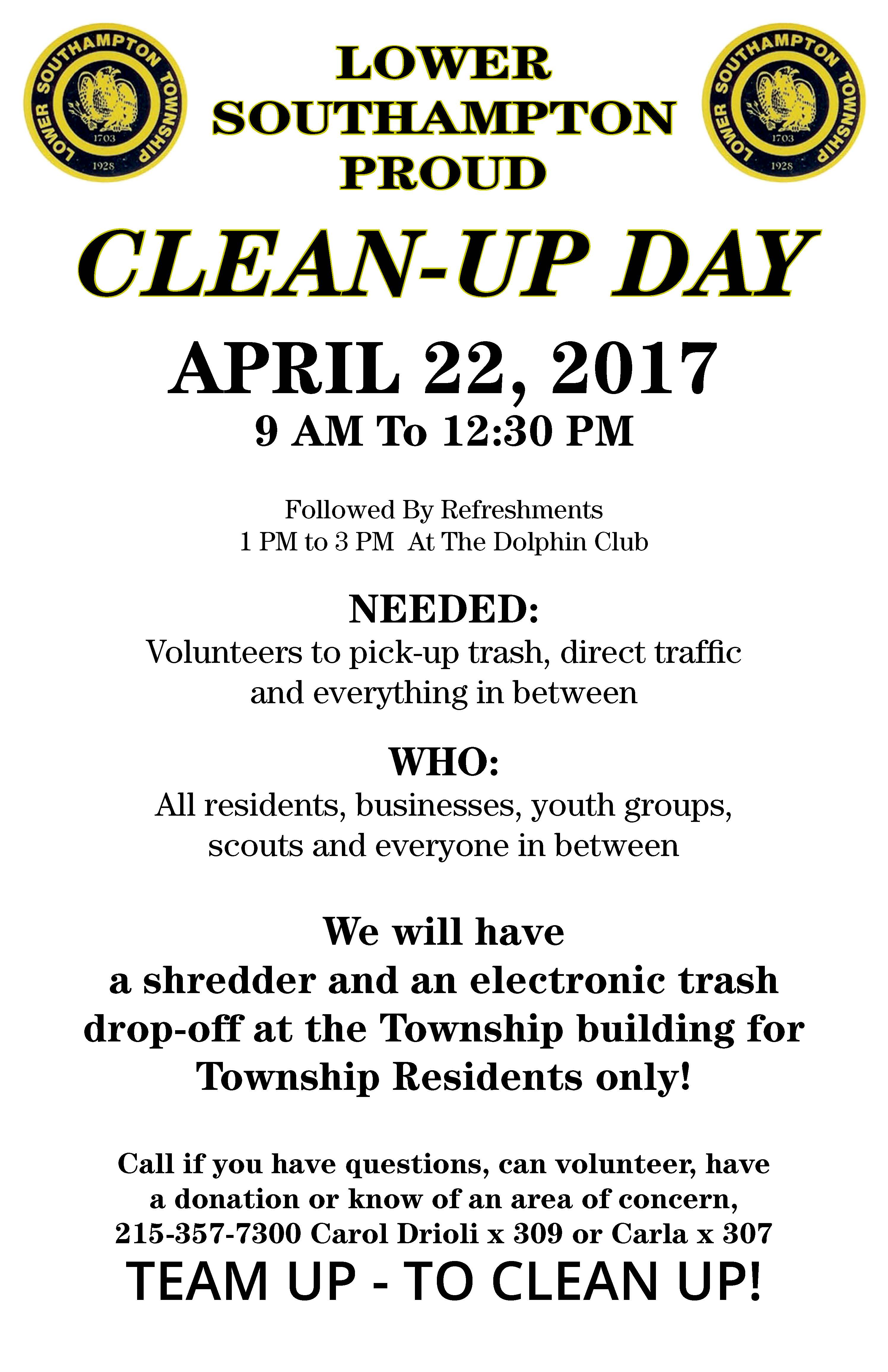 Community Clean up Poster 2017